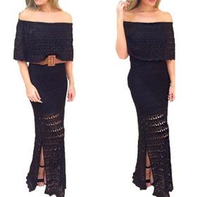 8251d13a8b Vestido Longo Ciganinha Fenda - Vestidos Casuais Longos Femininas no  Mercado Livre Brasil