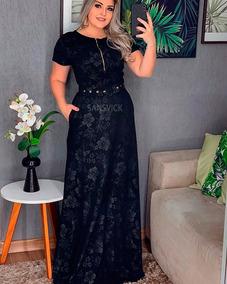 e9e4983a7 Cinta Para Trabalho Pesado - Vestidos Longo com o Melhores Preços no  Mercado Livre Brasil