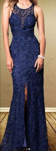 vestido longo dália em renda (festa, madrinha, casamento)