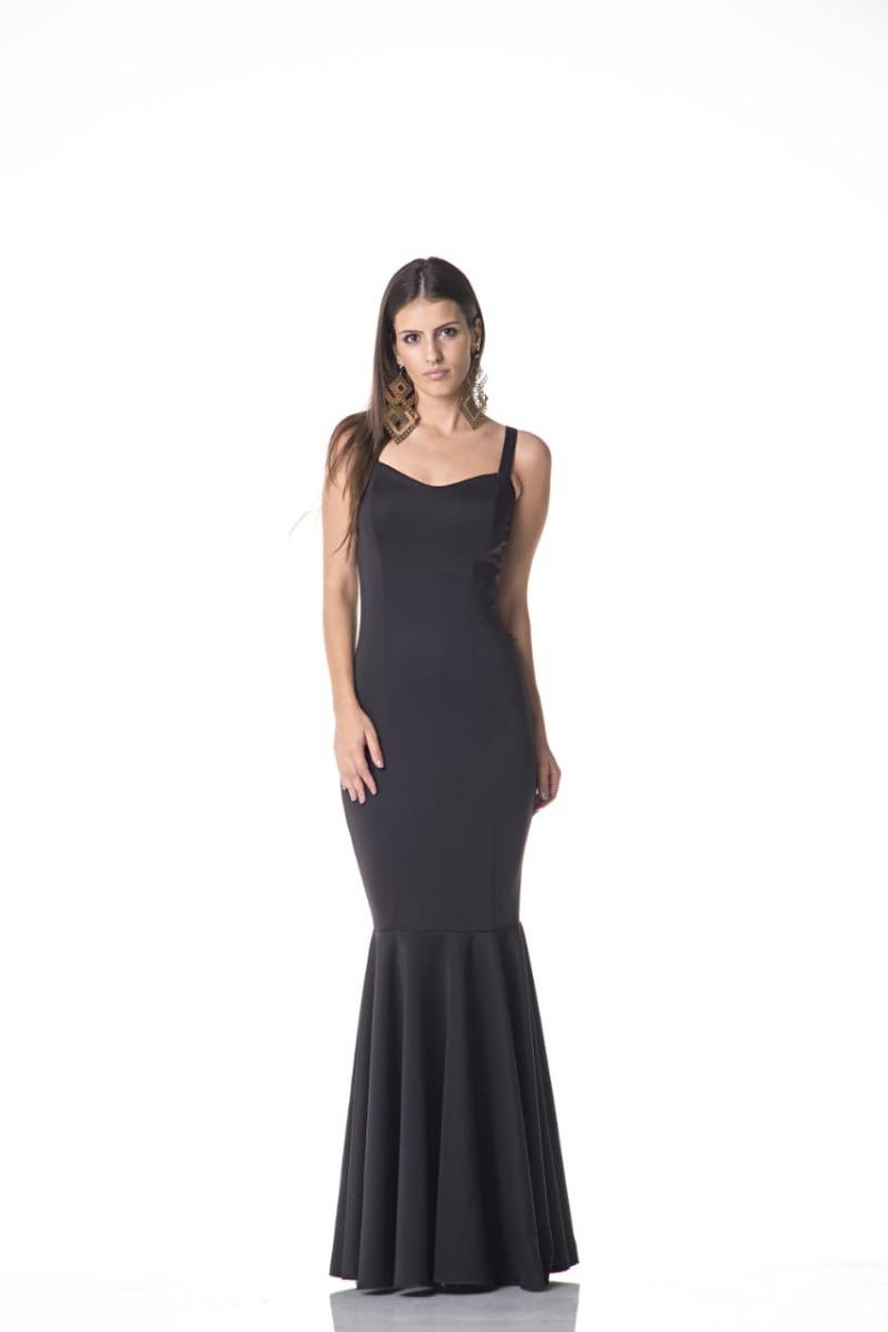 818084468 vestido longo de alça larga sereia em neoprene moda festa. Carregando zoom.