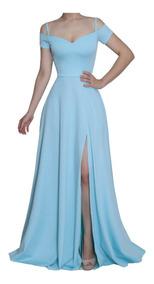 35c21223febb Vestido Azul Celeste - Vestidos Femeninos com o Melhores Preços no ...