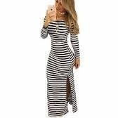 vestido longo de manga comprida  viscolycra  fenda laterais