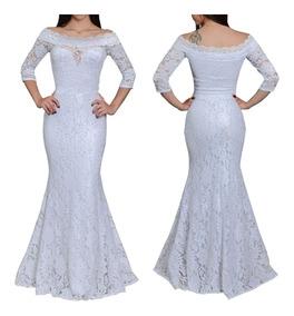 adabbd9253a4 Vestido Branco Longo - Vestidos Femeninos Longo com o Melhores Preços no Mercado  Livre Brasil