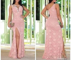 45dd61d51 Vestido Longovde Renda E Fenda E Decote V - Vestidos no Mercado Livre Brasil