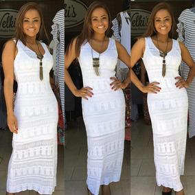 60700740a0af Vestido Branco Renda Para Usar Na Praia - Vestidos Femeninos Amarelo ...
