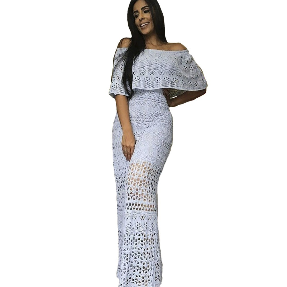 29ed9a36d7 vestido longo de tricot ciganinha lã. Carregando zoom.