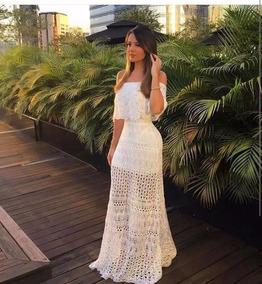 fbcd01654 Vestido De Croche Ciganinha Longo - Calçados, Roupas e Bolsas com o  Melhores Preços no Mercado Livre Brasil