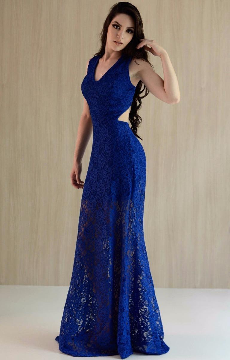 048f02ec5 vestido longo decote costas em renda (madrinha, casamento). Carregando zoom.