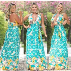 fb4082ce4a94 Vestido Decote Amarrar Vestidos Casuais Feminino - Calçados, Roupas ...