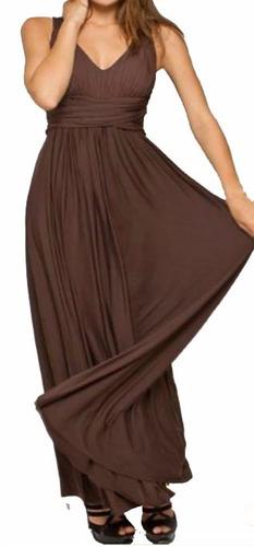 vestido longo drapeado pala na cintura. solto decote vl 123