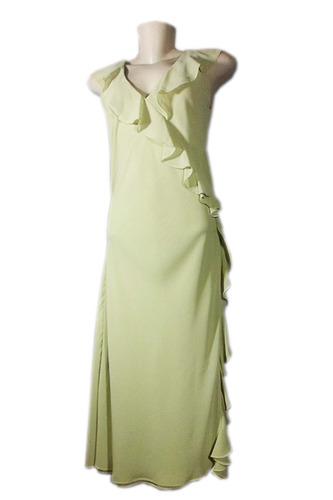 vestido longo em crepe para festa