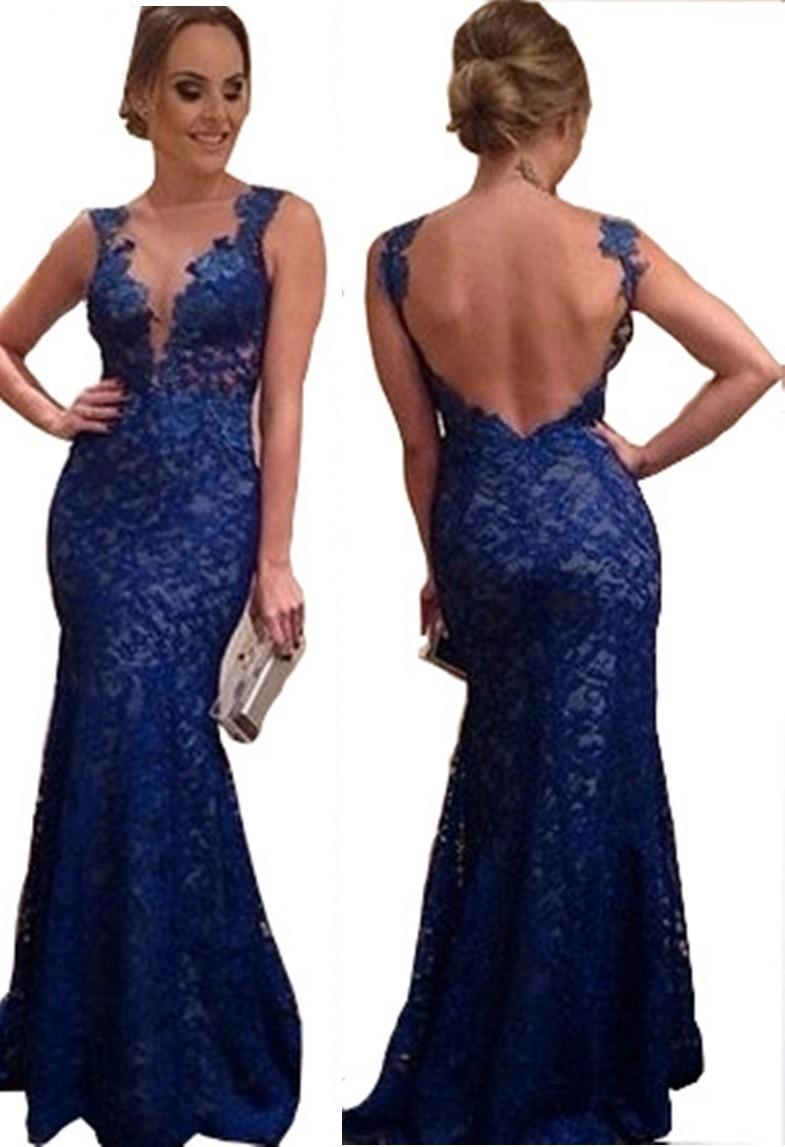 569304a70 vestido longo em renda casamento madrinha estilo sereia. Carregando zoom.