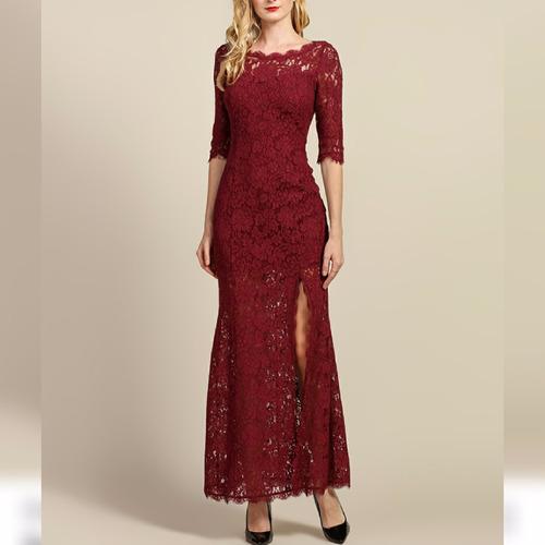 vestido longo em renda cris (festa, madrinha , casamento)