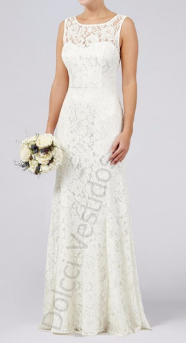 vestido longo em renda, festa, noiva, casamento civil d0036