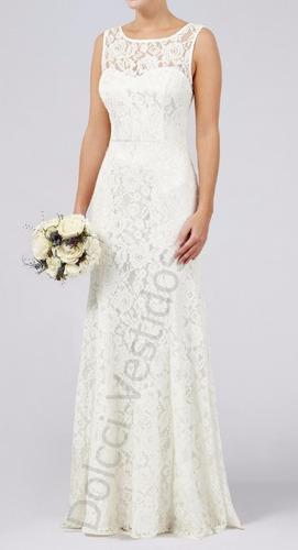 vestido longo em renda, festa, noiva, casamento civil d036