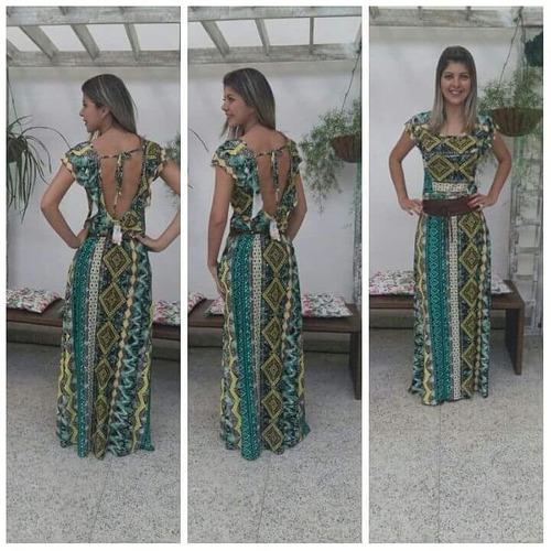 vestido longo em viscolycra