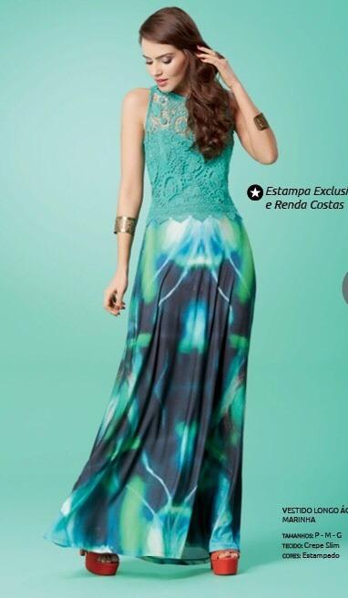 a3ab4a199 Vestido Longo Estampado - R$ 179,90 em Mercado Livre