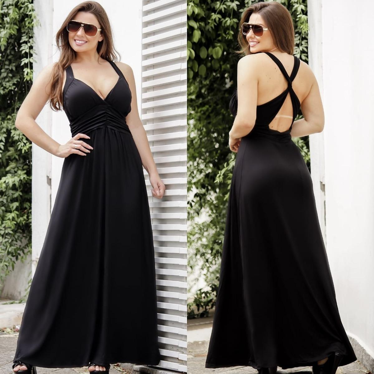 5c99942e9b vestido longo estampado decote c bojo sem manga verão. Carregando zoom.