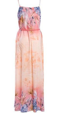 vestido longo estampado floral com cinto seiki em viscose 28