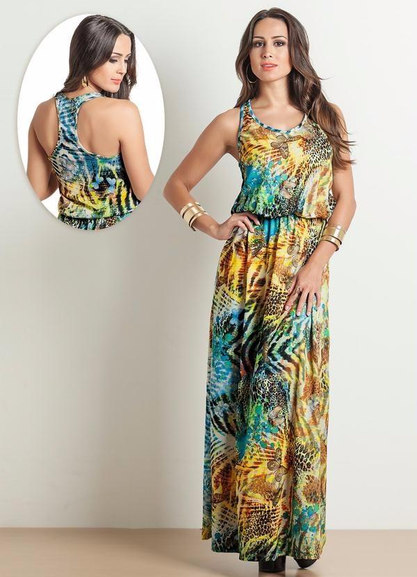 fbd39ac4d4ca vestido longo estampado florido casual verão promoção. Carregando zoom.