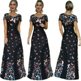 c1e3162bf3 Vestido Longo Estampado Floral Folk Tamanhos Do 46 Ao 52 - Vestidos Casuais  Femininas no Mercado Livre Brasil
