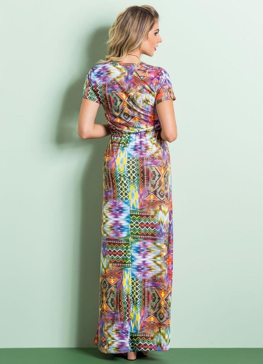 d8f6b42c1 vestido longo étnico com elástico na cintura frete grátis. Carregando zoom.