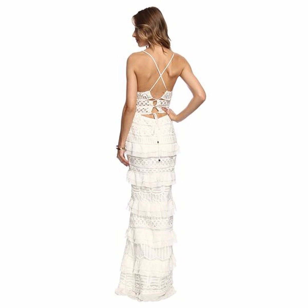 8e18f44ad Vestido Longo Fabulous Agilitá Renda Maravilhoso! Novo - R  1.280