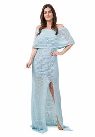 12170d45298a Vestido Croche Gestante no Mercado Livre Brasil
