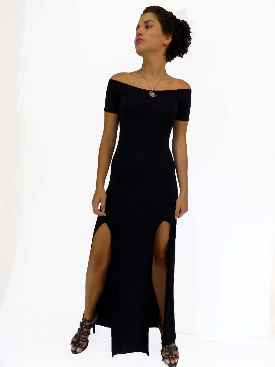 5181fb6b32 vestido longo feminino duas fendas super sexy e elegante. Carregando zoom.