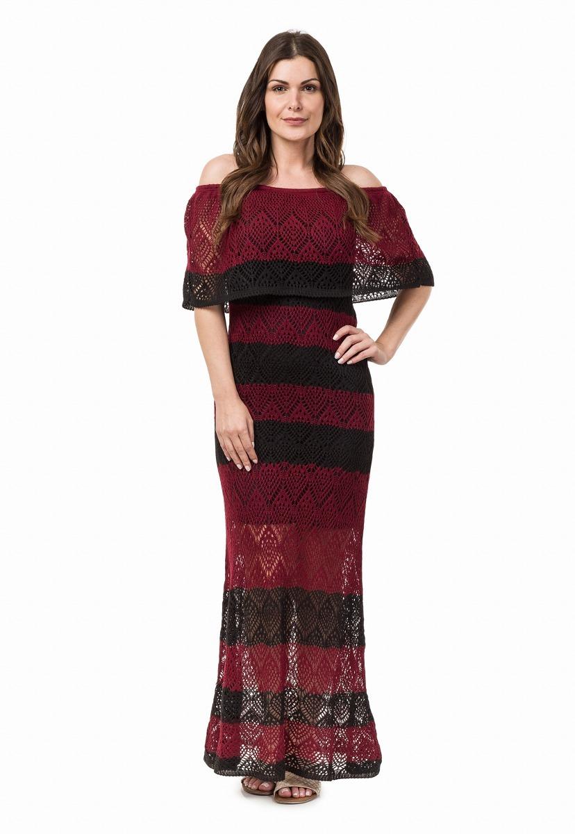 7b8fceab6cba vestido longo feminino tricot crochê promoção black friday. Carregando zoom.