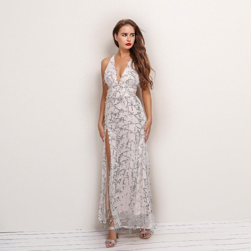 1820c0d32a vestido longo fenda paete brilho casamento formatura festa. Carregando zoom.