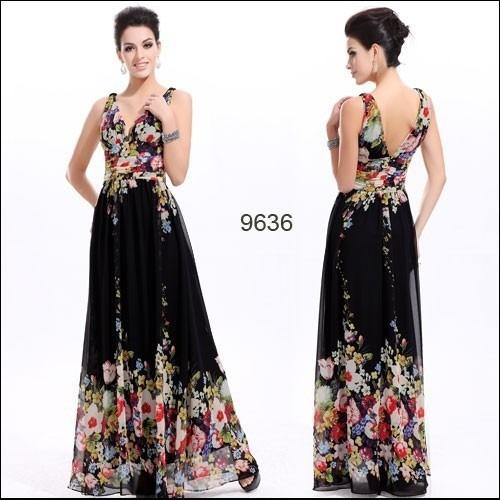 566974f9e Vestido Longo Festa Floral Lindíssimo Ever Pretty - R  299