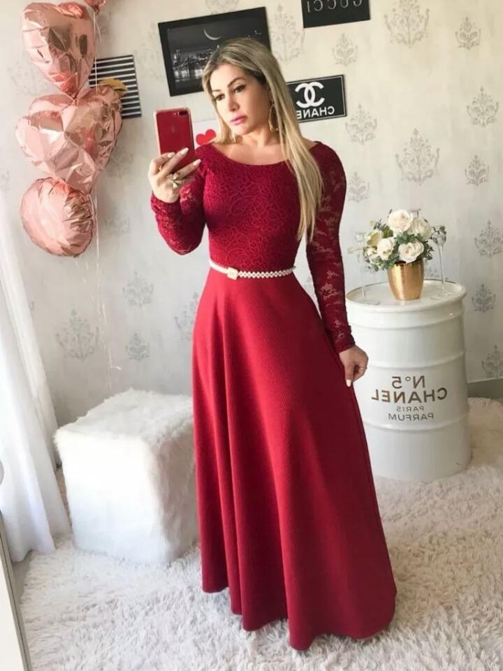 e98815b69 Vestido Longo Gode De Festa Casamento Madrinha Formatura - R  247