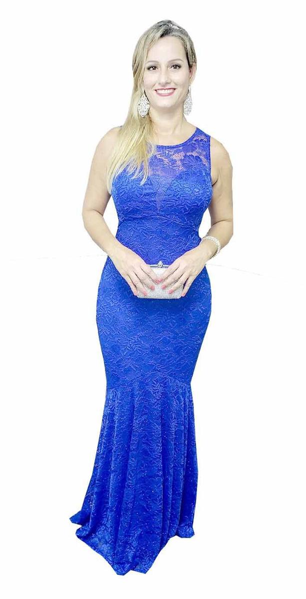 7de936024cefc vestido longo festa azul royal madrinha casamento lindo. Carregando zoom.