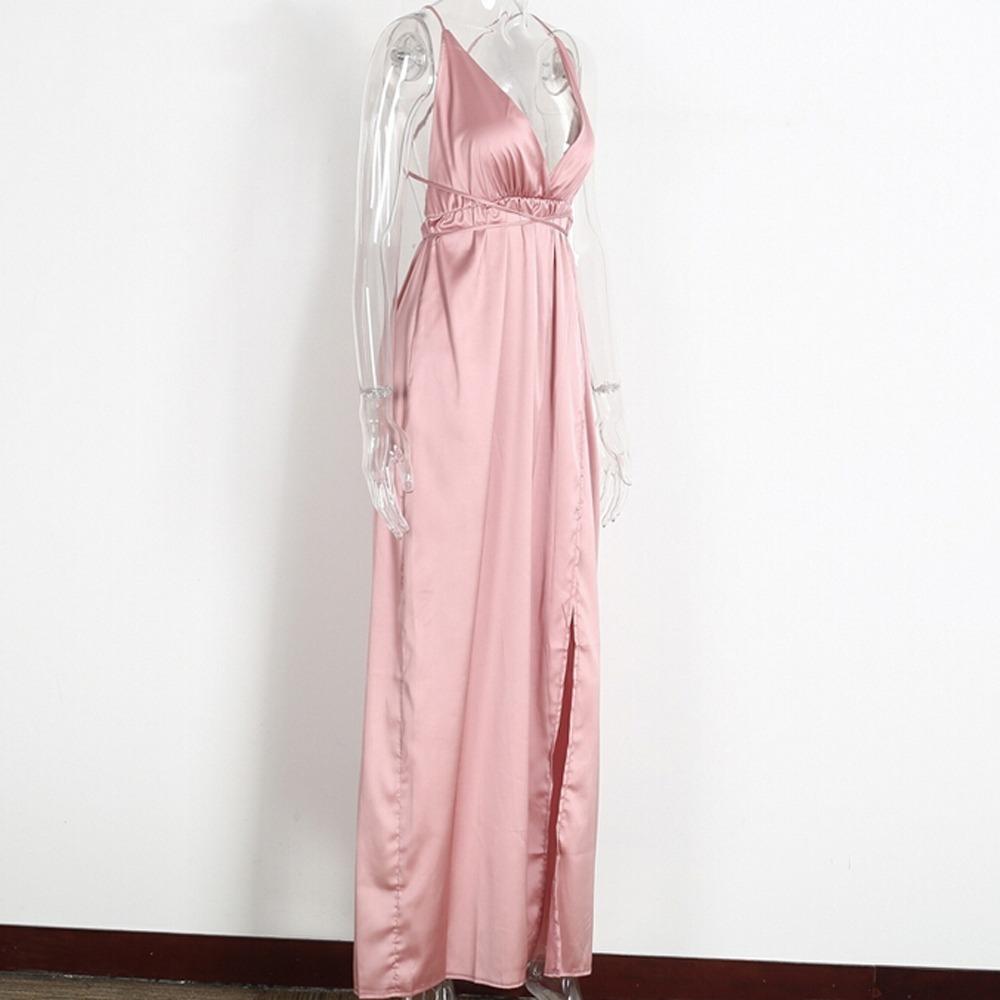 ee330ad4f vestido longo festa cetim de seda metalizado casamento. Carregando zoom.