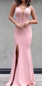 7282455db Vestido Longo Festa Madrinha Casamento Rosa - Vestidos Longos ...