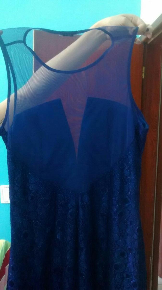 Vestido longo azul gg