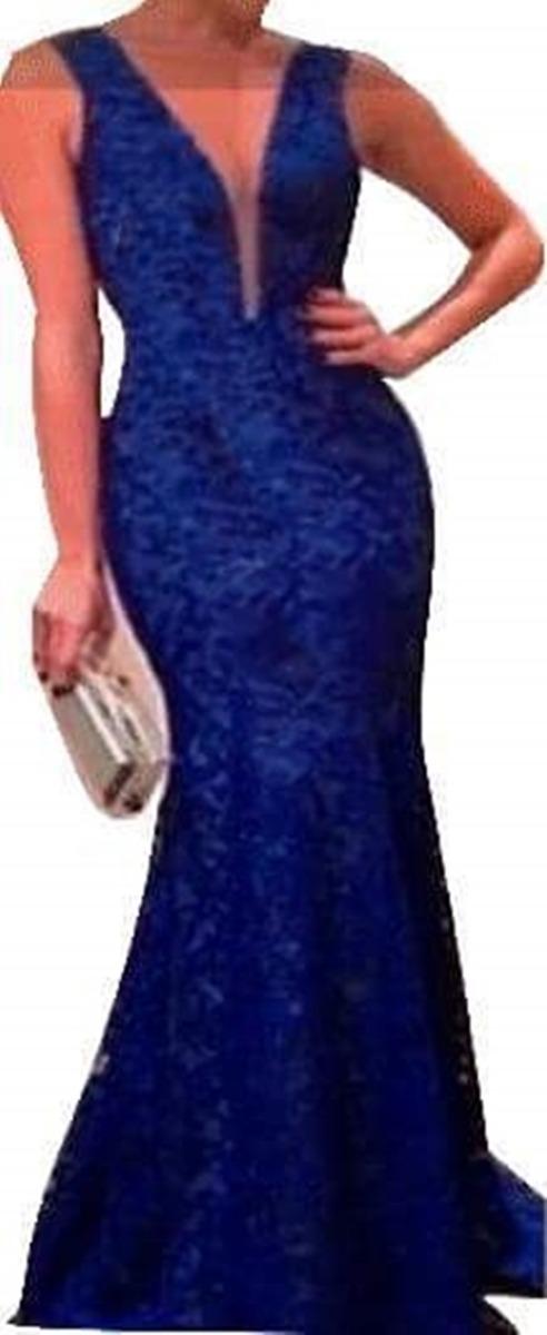 f645a3d38 Vestido Longo Festa Madrinha Casamento Renda Gripir - R$ 129,00 em ...