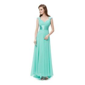 Vestido Longo Festa Madrinha Feminino Cauda Gala Ref24