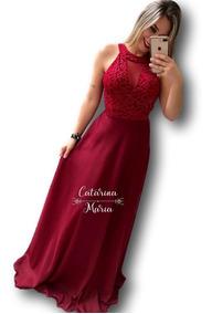 Vestido De Noiva Com Laço Marsala Vestidos Femeninos Longo