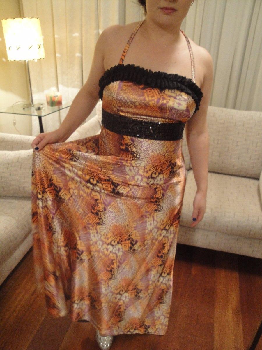 Vestido Longo Festa P Dia Noite Casamento Formatura Eventos