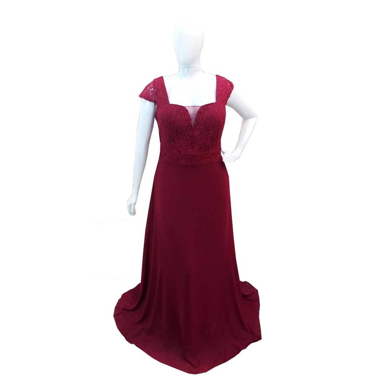 5195ac300d68 vestido longo festa plus size marsala casamento madrinha. Carregando zoom.