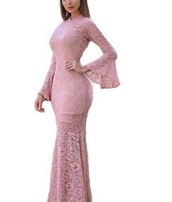 959f3363b0fd Vestido Manga Longa Inverno - Vestidos Femeninos com o Melhores Preços no  Mercado Livre Brasil
