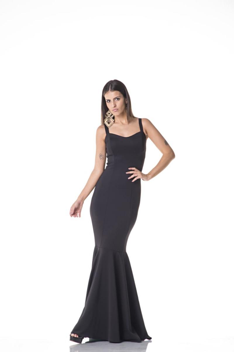 c04646bd0 Vestido Longo Festa Sereia De Alça Larga - R$ 159,90 em Mercado Livre