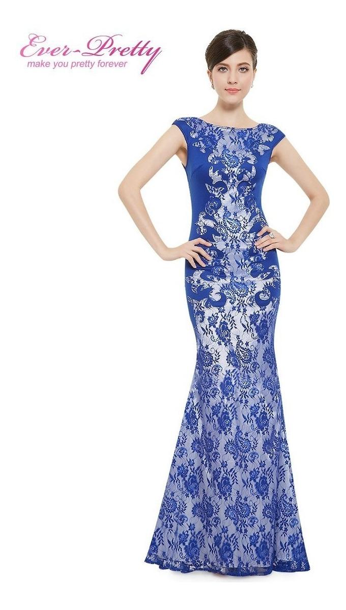 37c09c8aa Vestido Longo Festa Sereia Vermelho , Azul Cód. 19 - R$ 229,00 em ...