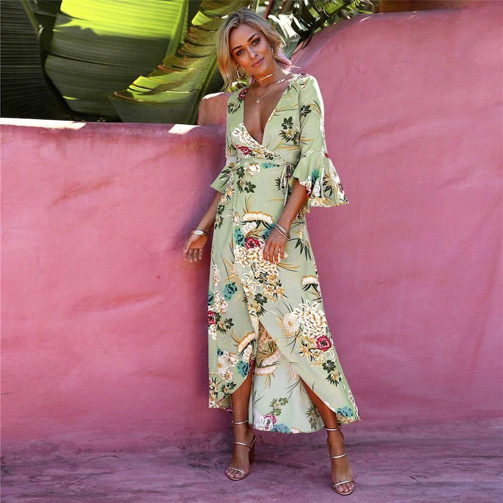 56e759968 Vestido Longo Floral Túnica De Praia G Tamanho: G - R$ 79,90 em Mercado  Livre