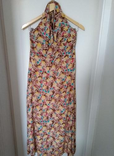 vestido longo florido x-ray - tamanho: m