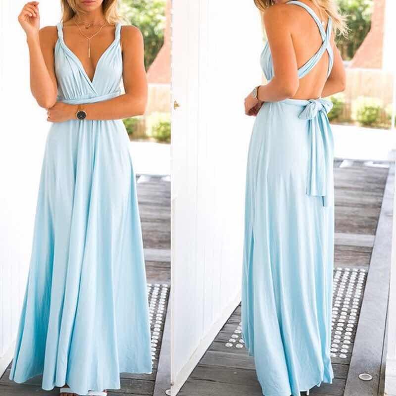Azul piscina vestido
