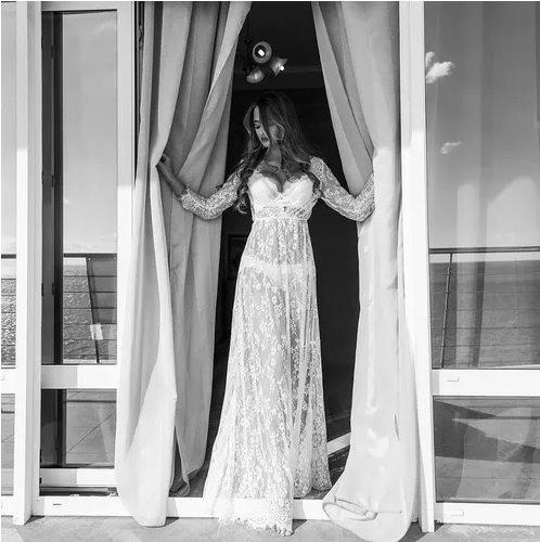 vestido longo gestante ensaio fotográfico saída de praia