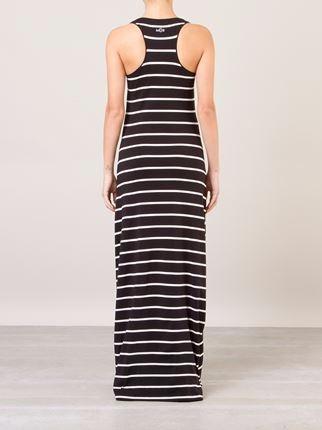 35b32bd2a Vestido Longo Listrado De Malha Cavado - R$ 99,90 em Mercado Livre